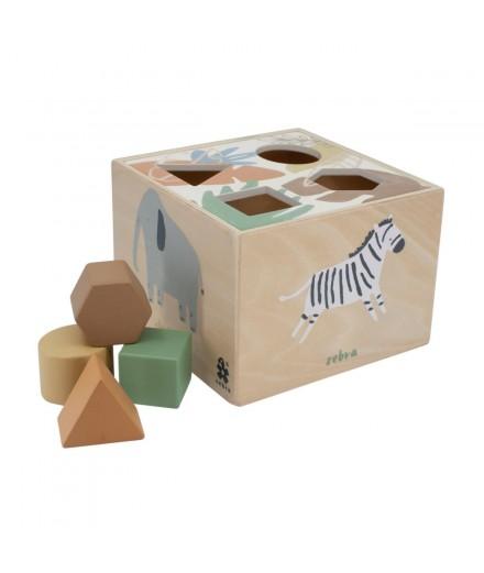 Boîte à formes en bois - Savane
