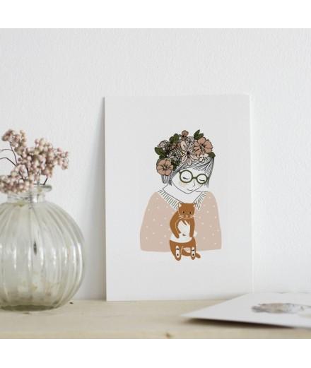 Carte postale Mona
