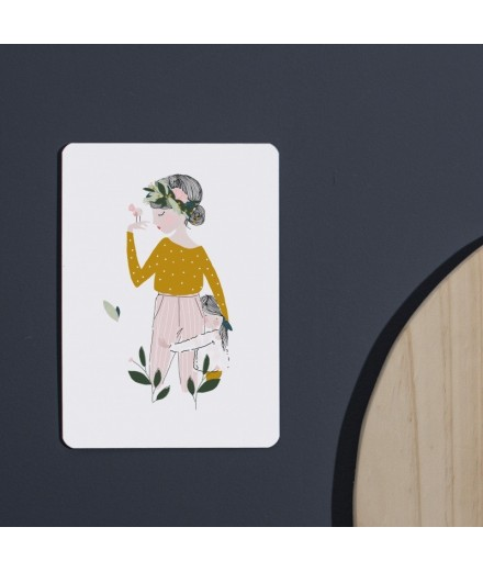 Carte postale Adélaïde moutarde - Mère et fils