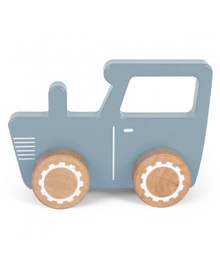 Tracteur en bois - Bleu