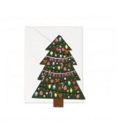 Carte double Merry Christmas - Sapin