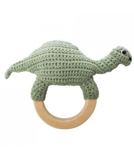 Hochet en tricot - DInosaure
