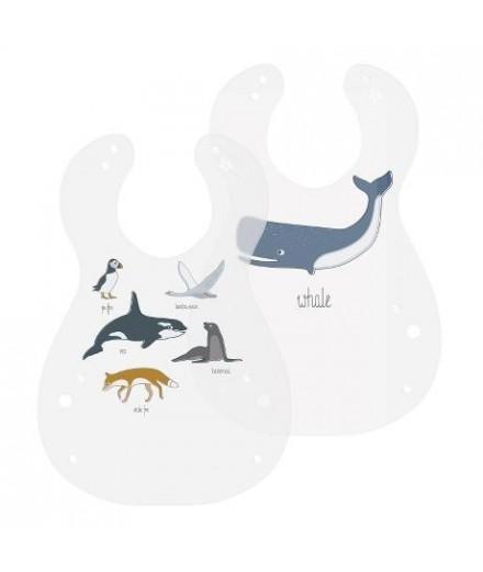 Set de 2 bavoirs - Oiseaux
