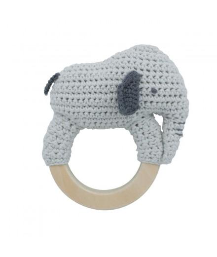 Hochet en tricot - Elephant