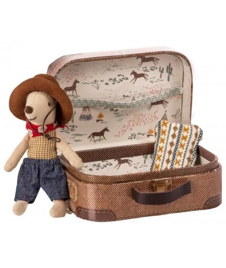 Souris Cowboy dans sa valise