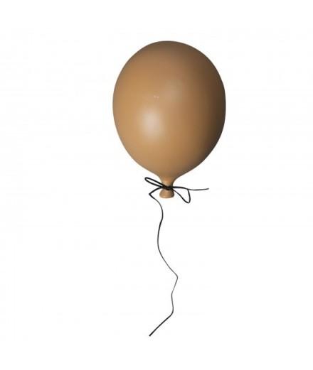 Ballon en céramique à suspendre - moutarde mate
