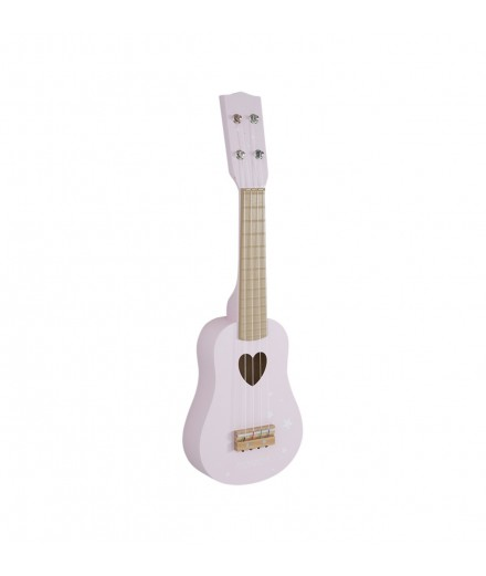 Guitare en bois - Rose