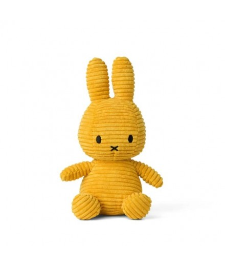 Peluche Miffy en velour côtelé - Moutarde
