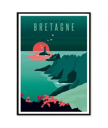 Affiche Bretagne Pointe du Raz