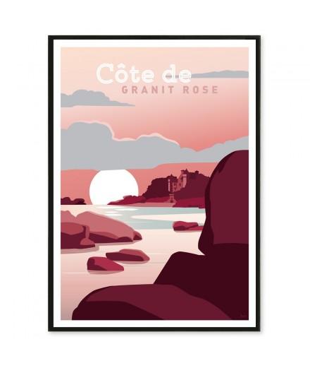 Affiche Côte de Granit Rose